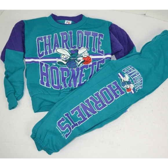 Vintage Other - Vintage 1993 Charlotte Hornets Youth Sweatsuit